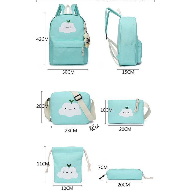 Nylon Backpack For Teenage Girls