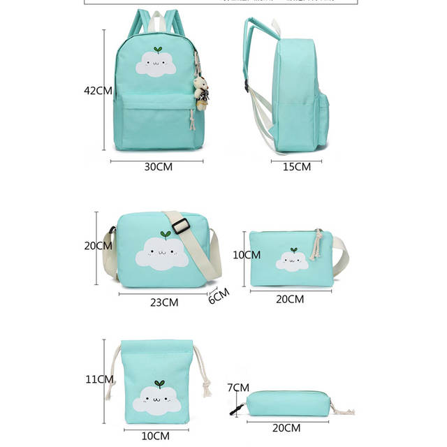 7979ff52f4fa 2019 New Fashion Nylon Backpack Schoolbags School For Girl Teenagers Casual  Children Travel Bags Rucksack Cute Cloud Printing