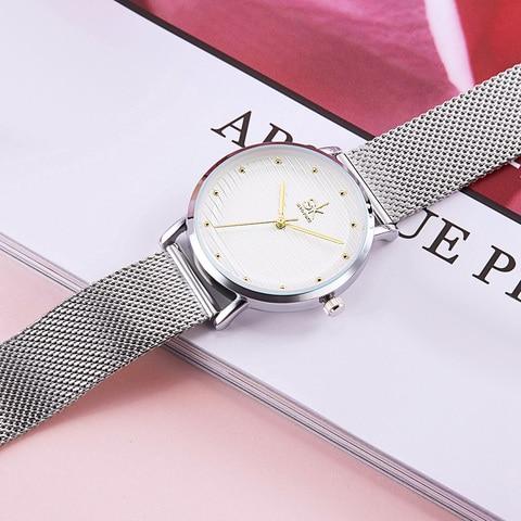 Shengke Luxury Quartz Women Watches Stainless Steel Ladies Wrist Watch Reloj Mujer 2019 SK Cheap Fashion Watches For Women Islamabad