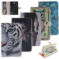 Fashion Tiger Painted Flip PU Leather sFor Samsung Galaxy Tab4 8.0 Case For Samsung Galaxy Tab 4 T330 T331 T335 Smart Case Cover