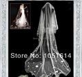 Custom Made New Fashion Design Lace Wedding Veil Appliques Wedding Bridal Veil