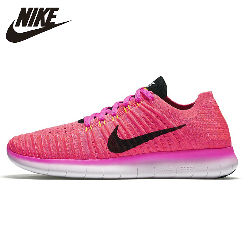 Nike Original New Arrival 2018 FREE RN FLYKNIT Women's Running Shoes Breathable Lightweight Outdoor Sneakers 831070 кроссовки nike free 4 0 flyknit