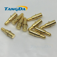 4 11.5 pogo pin Connectors 4*11.5mm Current pin Battery pin Test thimble probe Gold Plated high current 30V 3A Charge copper AW
