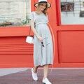 Verano Flojo escudo embarazada embarazo Las Mujeres embarazadas vestidos Ml XL XXL 3XL 4XL venta caliente