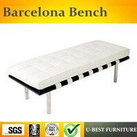 U лучшая кожа пользовательские Барселона Стулья для приёмной Bacelona bench 2 местный Председатель