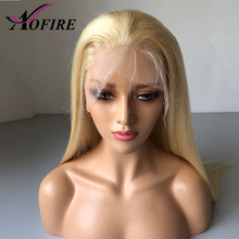 613 Honey Blonde Lace Front Wigs Brazilian Virgin Human Hair Wig With Baby Hair Pre Plucked Hairline Blonde Wig Bleached Knots(China)