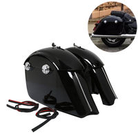 Gloss Black Saddlebag W/ Electronic Latch Assembly For Indian Roadmaster Springfield Chieftain 14 18 Limited 17 18