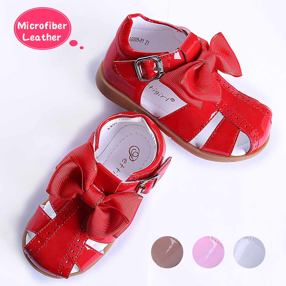Pettigirl 2019 Girls Sandals Microfiber Leather Princess Bow Baby Shoes Summer Girl Kids Shoes US Size (Without Shoe Box)