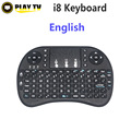 20 unids i8 Air Mouse mini teclado Inglés Multimedia batería de li-ion para Windows Android Smart TV BOX PC Portátil Tablet Mini PC