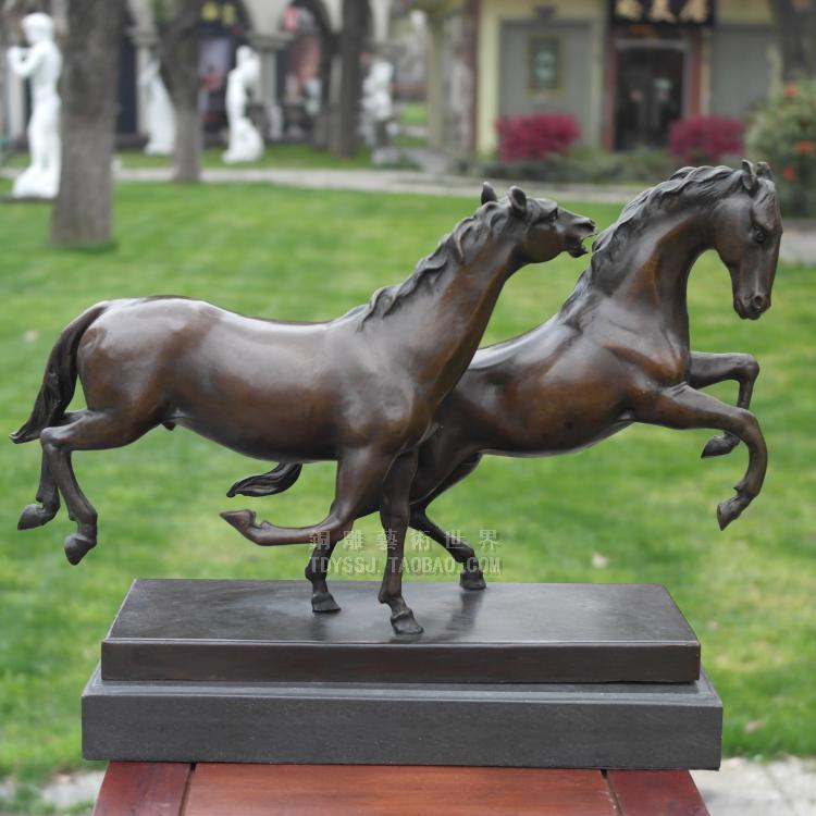 Horse copper sculpture crafts decoration home art decoration gift Exquisite Marked Figures Lovely Fine Gift crafts decoration