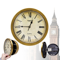 Wall Mounted Hanging Safe Box Wall Clock Creative Hidden Secret Clock Storage Security Of Key Cash Money Jewelry File Home Decor