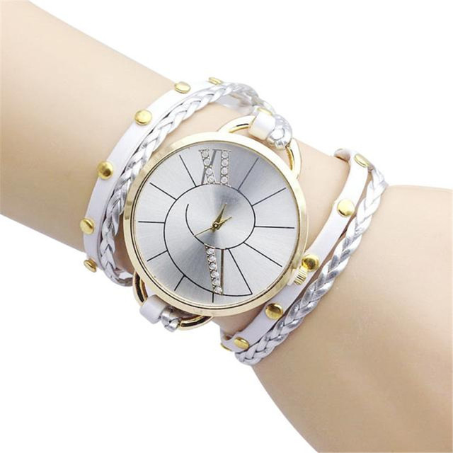 Big Dial Women's Bracelet Watches Hand Woven Ladies Watch top sale wrist quartz