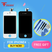 1pcs AAA NO PIXEL NO DEAD LCD Screen For IPhone 4S 4 4G Replacement Display Touch