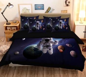 3D Universe Earth 58 Bed Pillowcases Quilt Duvet Cover Set