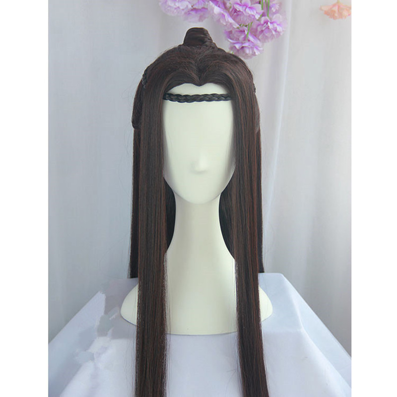 Kids Costumes & Accessories 80cm Black Long Vintage Hair Chinese Ancient Dynasty Hair Cosplay Ancient Chinese Hair Anime Long Hair Warrior Cosplay Costumes & Accessories