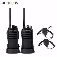 2 pcs Retevis RT21 Walkie Talkie+2X Speaker UHF400-480MHz 2.5W 16CH CTCSS/DCS TOT VOX Scan Scrambler Radio Transceiver A9118A