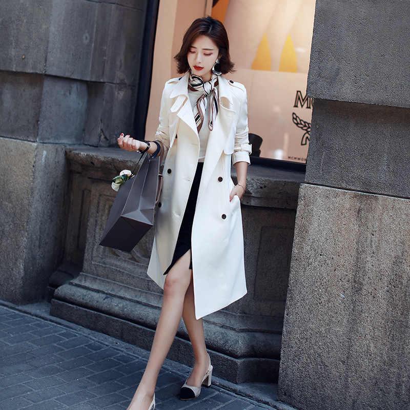 Gabardina para mujer abrigo mujer invierno 2018 nueva moda abrigo de invierno para mujer trenchcoat KK2486