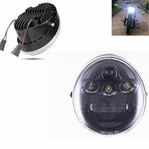 Image 4 - DOT E9 faro delantero negro de aluminio para motocicleta Harley V Rod VROD VRSCA VRSC faro VRSC/V ROD faro LED para motocicleta
