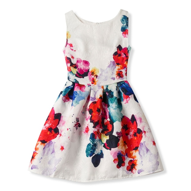 5a49271c644 Children Clothing Girl Sundress Summer Dress For Girl Party Clothes Tiny  Floral Print Kids Dresses For