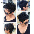 Short black curly wigs for black women afro african american celebrity wigs synthetic hair Celebrity Hairstyle