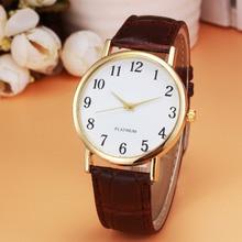 New Fashion 2017 relogio Reloj Watch Men Women unisex Retro Design Leather Band Analog Alloy Quartz Wrist Watch 1229d40