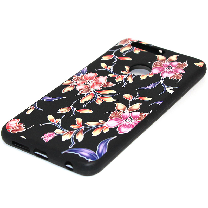 3D Relief flower silicone case huawei honor 8 (25)