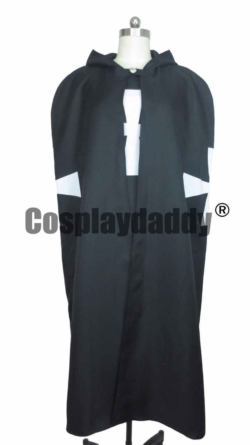 Knights Hospitaller Tunic Cloak Cape Crusaders Gothic Cross LARP Cosplay Costume