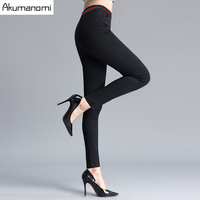 Winter Autumn Full Length Pencil Pants Thicken Patchwork Elastic Waist Trousers Women Trousers Panty High Quality