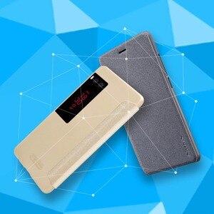Image 3 - Per il caso di Meizu pro 7 caso della copertura NILLKIN Sparkle copertura di cuoio per Meizu pro 7 più il caso della copertura di vibrazione smart finestra di sonno wake up