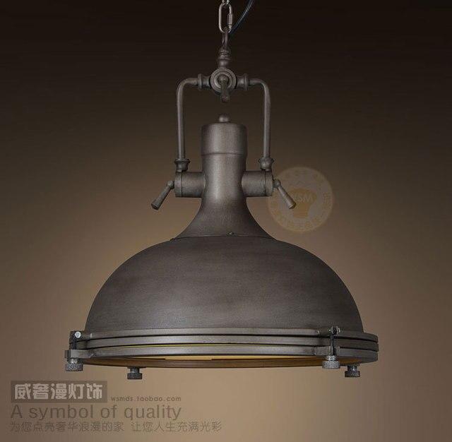 industrial iron nautical pendant lamp hanging light retro vintage art deco chandelier loft pot cover warehouse
