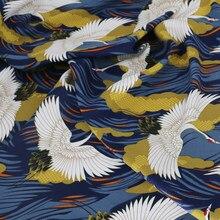 O guindaste de 100*145cm imprimiu o design da tela dos têxteis de viscose japão
