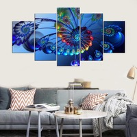 2017 Limited Hot Sale Unframed Irregular Peacock Feather Modern Canvas Painting Animal Wall Art By Numbers