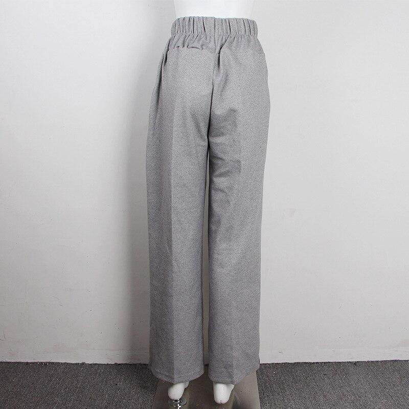 FATIKA Autumn Winter Women Loose Casual Long Pants New 19 Elastic Waist Fashion Thick Wide Leg Pants Stylish Trousers 10