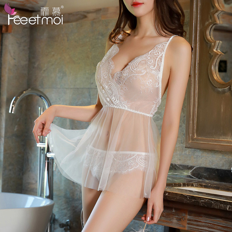 Sexy Lingerie Hot Erotic Transparent Lace Mesh Slip Porn -3817