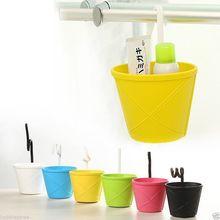 Bathroom Kitchen Storage Hanging Basket Bowl Bin Toiletries Container Organizer