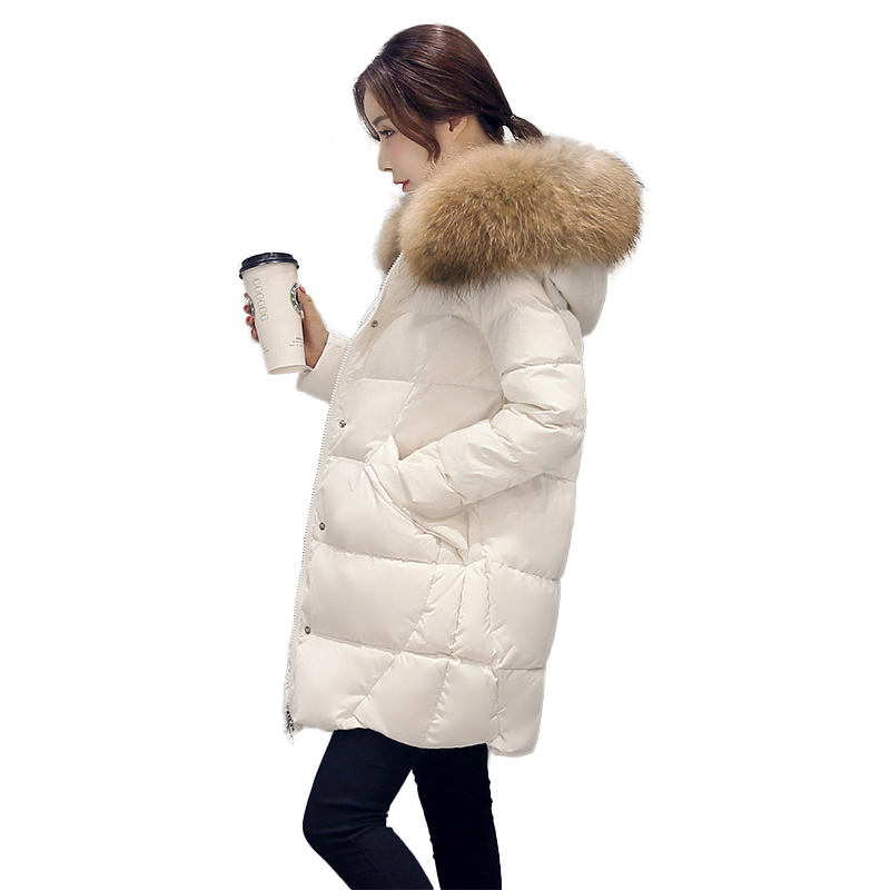 2017 New Winter Fashion Jacket Women Wadded Coat Warm Female Hooded Outerwear Long Slim Cotton Faux Fur Collar Parkas YP0396 ноутбук hp pavilion 14 bf011ur 2cv38ea 2cv38ea