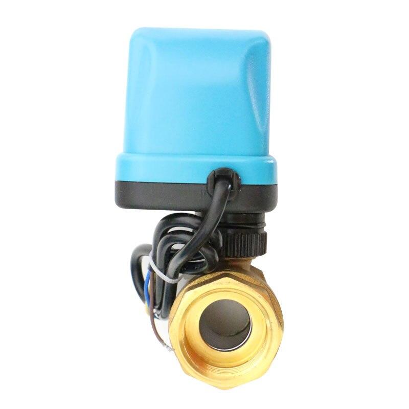 708 Messing Drie Core Twee Controle Dual Power Elektrische Kogelkraan DN15 20 25 - 5