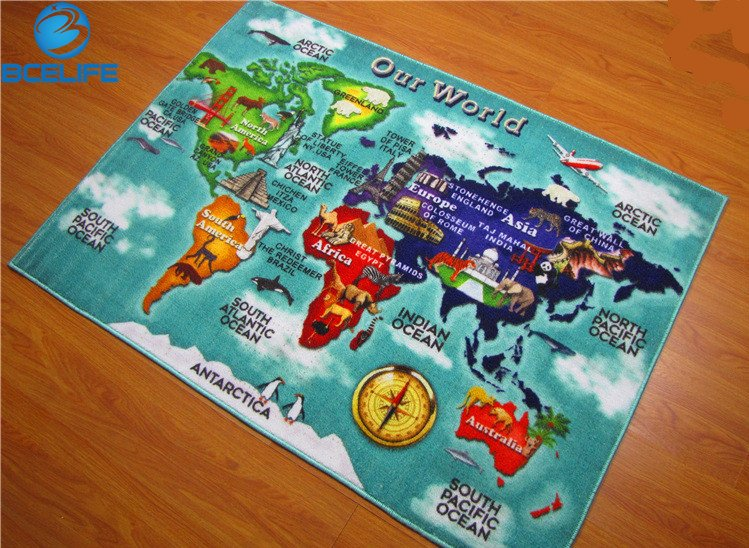 Montessori rug furniture shop sgs certification world map kid baby play mat crawling game blanket montessori materials infant carpet mats gumiabroncs Image collections