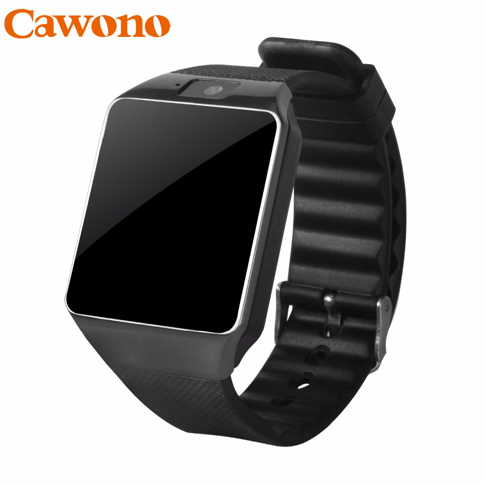 Cawono Smart watch Relogio Inteligente relogios Bluetooth Smartwatch DZ09 smart watch a prova d ' água Relogio wearable devices TF Cartão da Câmera SIM para iPhone Samsung HTC LG HUAWEI Telefone Android VS Q18 Y1