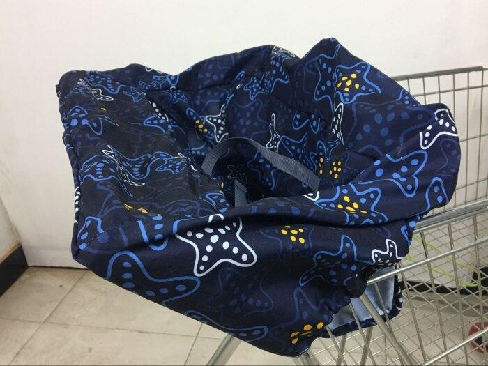 10 видов стилей серый чехол для детской тележки с рыбками, чехол для коляски, подушка для сиденья, детский чехол для стульев, защитная складная подушка в полоску - Цвет: Standard  fishstar