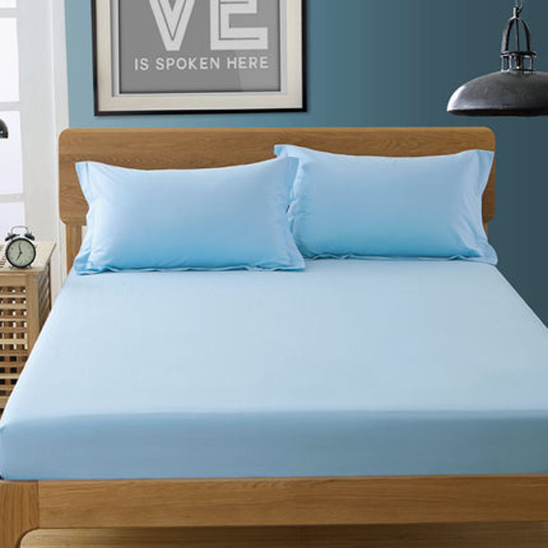 wholesale 1pc sky blue color fitted sheet cotton pure bed sheet soft mattress cover protector 10. Black Bedroom Furniture Sets. Home Design Ideas