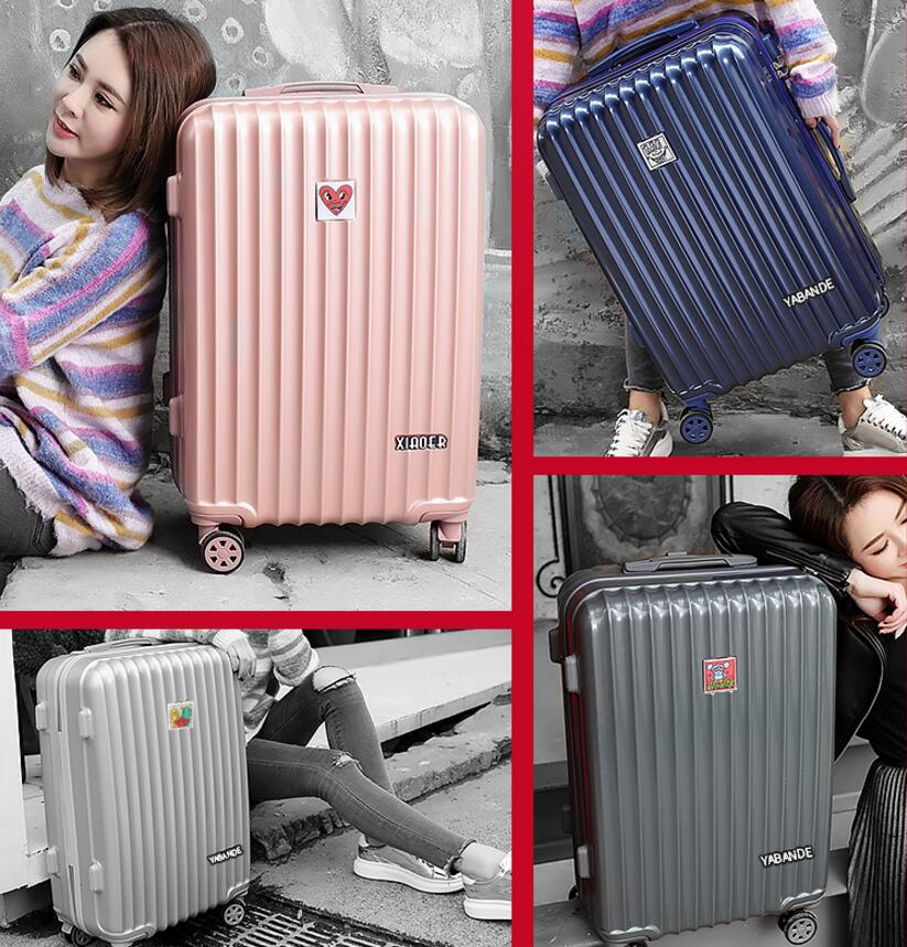 Luggage female pull rod box aluminum frame luggage wanxiang wheel men's code box 20 24 small fresh Korean version new design professional universal wheel rod makeup box men and women pull rod