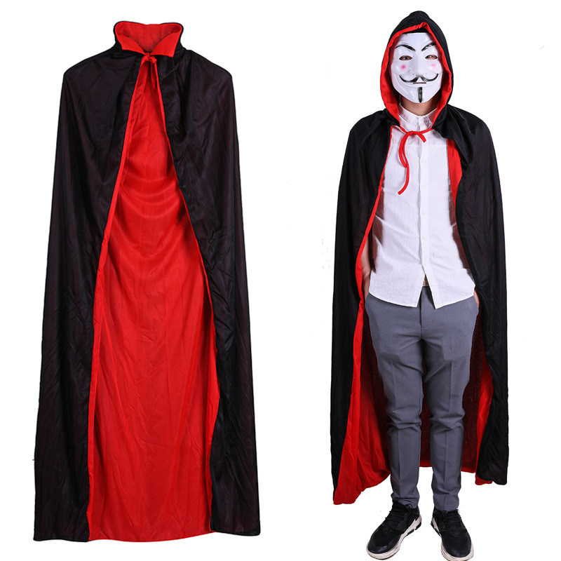 Fashion Capes Cloak Long Velvet Cape for Christmas Halloween Cosplay Costumes 6