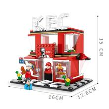 купить hot city Street view KEC McDonald Hamburger fries fried chicken shop Building Blocks moc model diy bricks toys for children gift по цене 1145.01 рублей