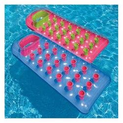177*64 см надувной плавающий ряд с 18 отверстиями с подушкой шезлонг плавание борд воздушный матрас удобный бассейн плавающий Colchonetas