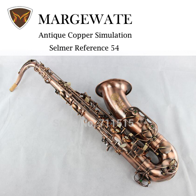 Cheap Henri Selmer Tenor Saxophone Instruments musicales profesionales saxofone Reference 54 Red Bronze curved soprano saxophone