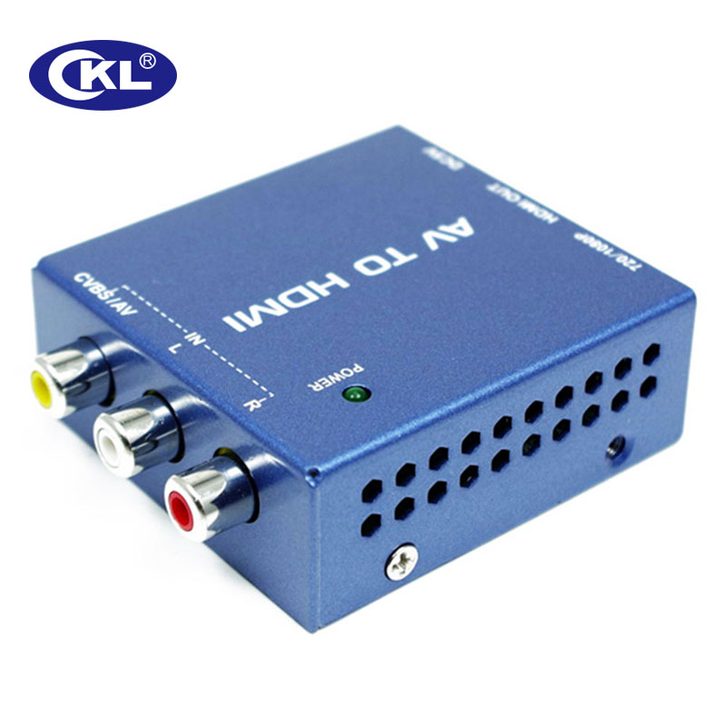 CKL AV to HDMI Video Converter 5V DC Blue Metal Support 1920*1080 ckl av to hdmi video converter 5v dc