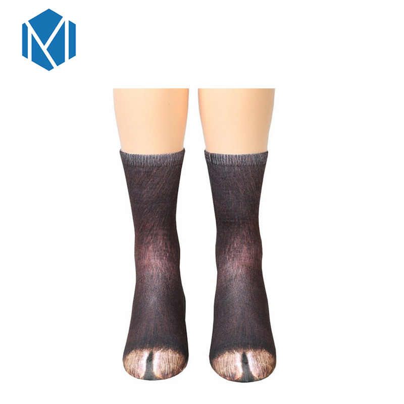 Cute Unisex Womens 3D Animals Paw Print Socks Crew Long Socks Soft Casual Cotton Socks Children kids Dog Horse Zebra Pig Cat Paw
