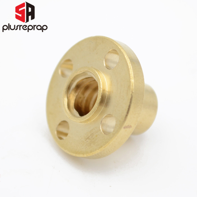 3D Printer Parts Brass Flange Nut For CNC 3D Printer Reprap T8 Lead Screw 8mm Lead 8mm Lead 4mm Or 2mm