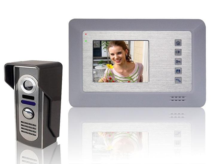 4 Inch LCD Display Video Door Phone Super Thin Outdoor Intercom Hands-free Video Doorbell